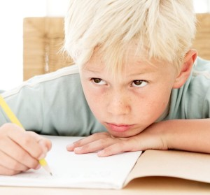 Young Boy Learning --- Image by © Royalty-Free/Corbis